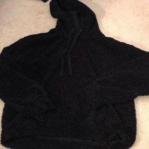 Fluffy sheep-like wool sweatshirt